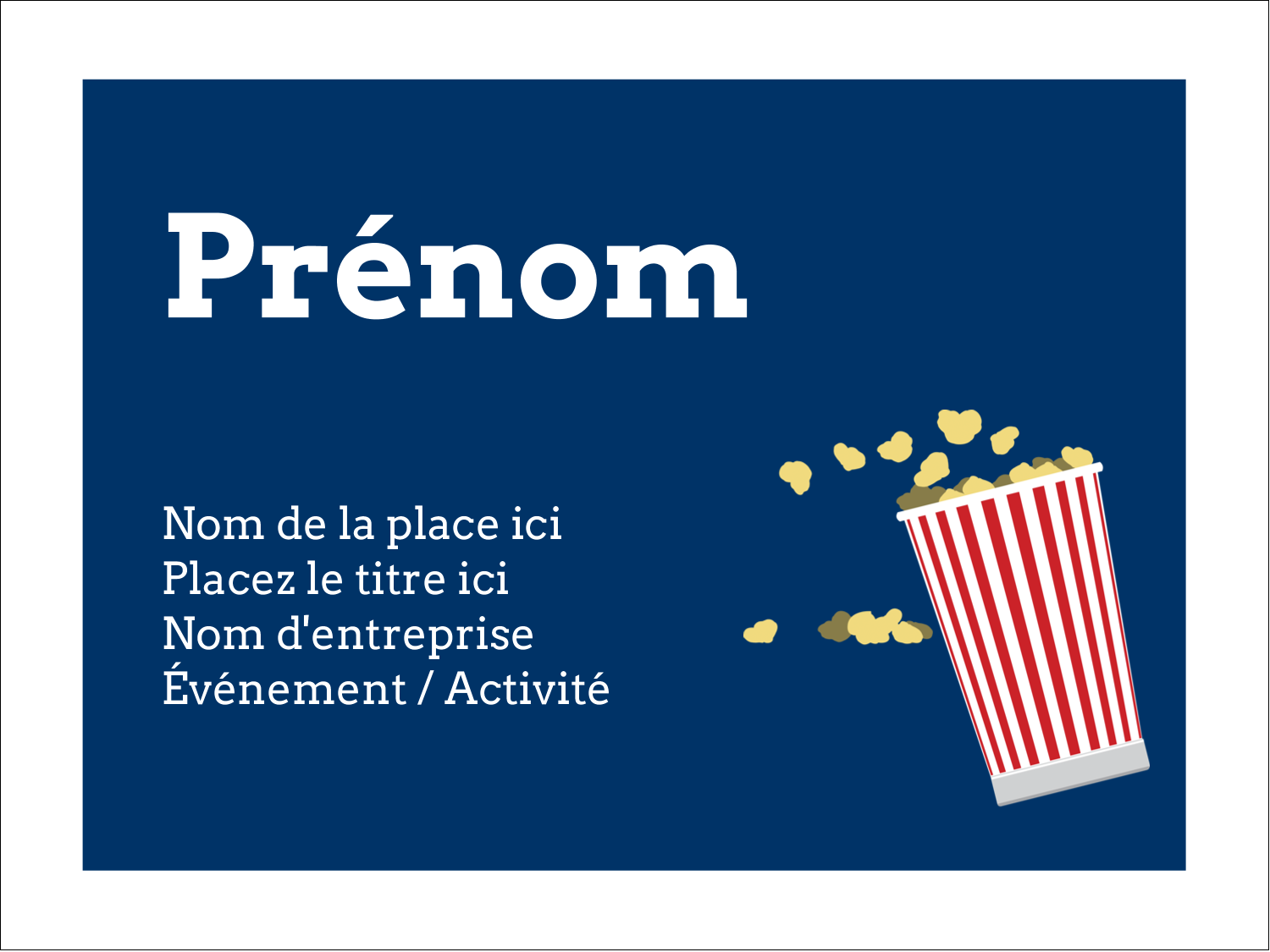 "3"" x 4"" Badges - Popcorn et film"