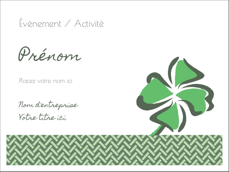 """3"""" x 4"""" Badges - Trèfle de la Saint-Patrick"""