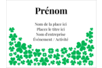 Pluie de trèfles de la Saint-Patrick Badges - gabarit prédéfini. <br/>Utilisez notre logiciel Avery Design & Print Online pour personnaliser facilement la conception.