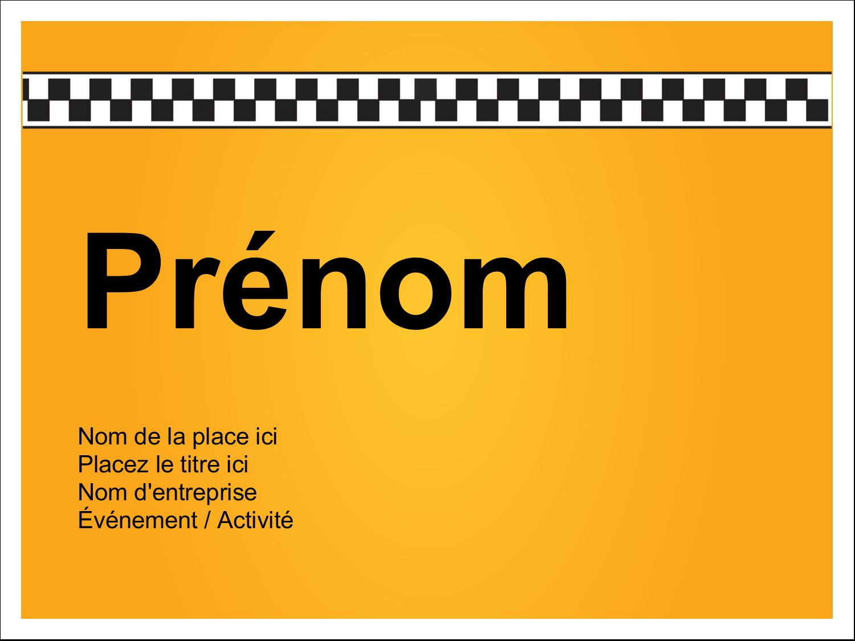 """3"""" x 4"""" Étiquettes badges autocollants - Échiquier taxi"""