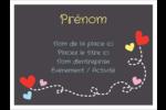Saint-Valentin sur fond noir Badges - gabarit prédéfini. <br/>Utilisez notre logiciel Avery Design & Print Online pour personnaliser facilement la conception.