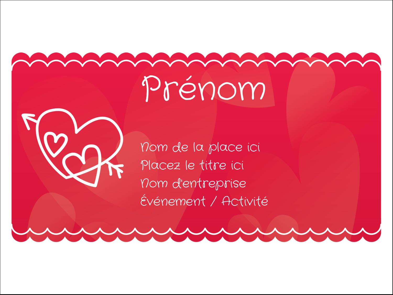 """3"""" x 4"""" Badges - Dessin de la Saint-Valentin"""