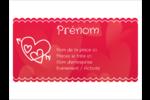 Dessin de la Saint-Valentin Badges - gabarit prédéfini. <br/>Utilisez notre logiciel Avery Design & Print Online pour personnaliser facilement la conception.