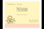 Dessin floral Badges - gabarit prédéfini. <br/>Utilisez notre logiciel Avery Design & Print Online pour personnaliser facilement la conception.
