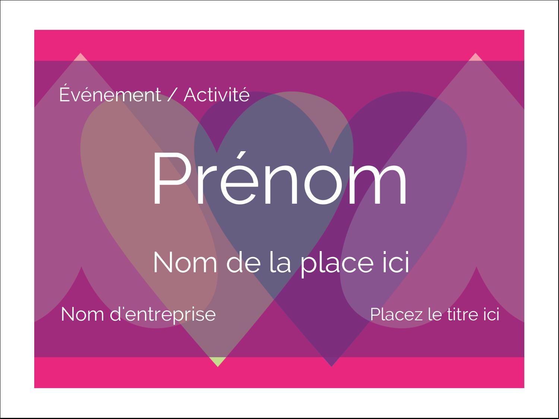 """3"""" x 4"""" Badges - Rang de cœurs de la Saint-Valentin"""