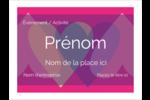 Rang de cœurs de la Saint-Valentin Badges - gabarit prédéfini. <br/>Utilisez notre logiciel Avery Design & Print Online pour personnaliser facilement la conception.