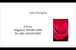 Rose rouge Cartes Pour Le Bureau - gabarit prédéfini. <br/>Utilisez notre logiciel Avery Design & Print Online pour personnaliser facilement la conception.