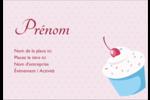 Petit gâteau aux cerises Étiquettes à codage couleur - gabarit prédéfini. <br/>Utilisez notre logiciel Avery Design & Print Online pour personnaliser facilement la conception.