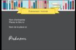 Rayons de bibliothèque Badges - gabarit prédéfini. <br/>Utilisez notre logiciel Avery Design & Print Online pour personnaliser facilement la conception.