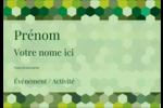 Hexagones verts Badges - gabarit prédéfini. <br/>Utilisez notre logiciel Avery Design & Print Online pour personnaliser facilement la conception.