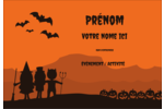 Enfants à l'Halloween Étiquettes à codage couleur - gabarit prédéfini. <br/>Utilisez notre logiciel Avery Design & Print Online pour personnaliser facilement la conception.