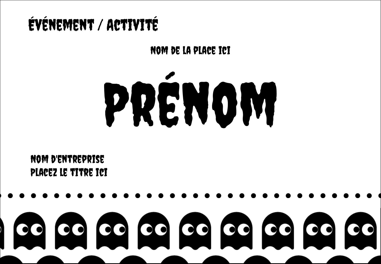 """1¼"""" Étiquettes à codage couleur - Fantômes Pac-Man d'Halloween"""