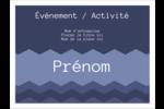 Chevron bleu Badges - gabarit prédéfini. <br/>Utilisez notre logiciel Avery Design & Print Online pour personnaliser facilement la conception.