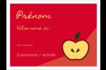 Pomme rouge Étiquettes badges autocollants - gabarit prédéfini. <br/>Utilisez notre logiciel Avery Design & Print Online pour personnaliser facilement la conception.