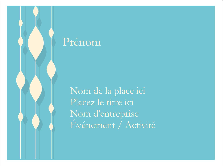 "3"" x 4"" Badges - Rideau de perles bleues"