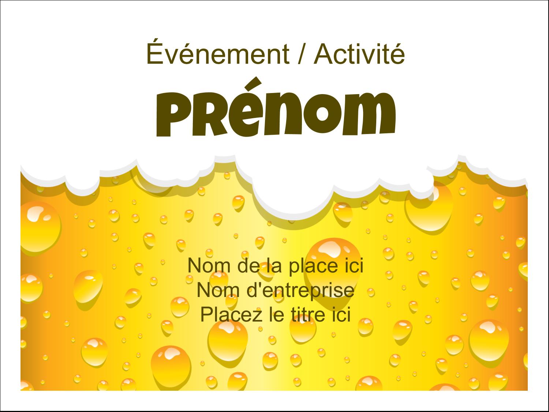 """3"""" x 4"""" Badges - Image de bière"""