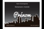 Ville nocturne Étiquettes badges autocollants - gabarit prédéfini. <br/>Utilisez notre logiciel Avery Design & Print Online pour personnaliser facilement la conception.
