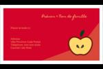 Pomme rouge Cartes d'affaires - gabarit prédéfini. <br/>Utilisez notre logiciel Avery Design & Print Online pour personnaliser facilement la conception.