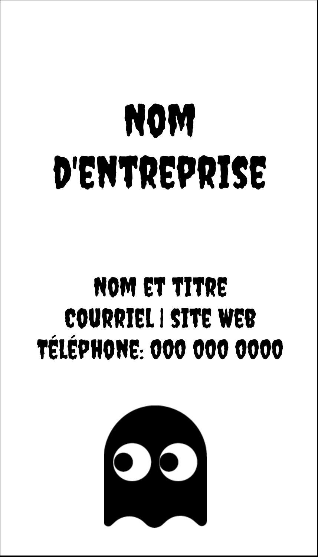 """2"""" x 3½"""" Carte d'affaire - Fantômes Pac-Man d'Halloween"""