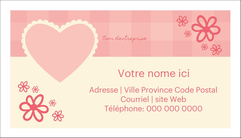 """2"""" x 3½"""" Carte d'affaire - Guingan de la Saint-Valentin"""