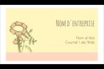 Dessin floral Carte d'affaire - gabarit prédéfini. <br/>Utilisez notre logiciel Avery Design & Print Online pour personnaliser facilement la conception.