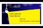 Projecteur sur fond bleu Cartes d'affaires - gabarit prédéfini. <br/>Utilisez notre logiciel Avery Design & Print Online pour personnaliser facilement la conception.