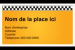 Échiquier taxi Cartes d'affaires - gabarit prédéfini. <br/>Utilisez notre logiciel Avery Design & Print Online pour personnaliser facilement la conception.