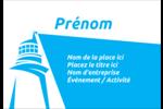 Phare bleu Badges - gabarit prédéfini. <br/>Utilisez notre logiciel Avery Design & Print Online pour personnaliser facilement la conception.