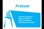 Phare bleu Étiquettes badges autocollants - gabarit prédéfini. <br/>Utilisez notre logiciel Avery Design & Print Online pour personnaliser facilement la conception.
