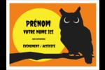 Chouette d'Halloween Badges - gabarit prédéfini. <br/>Utilisez notre logiciel Avery Design & Print Online pour personnaliser facilement la conception.