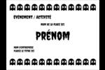 Fantômes Pac-Man d'Halloween Badges - gabarit prédéfini. <br/>Utilisez notre logiciel Avery Design & Print Online pour personnaliser facilement la conception.