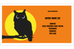 Chouette d'Halloween Carte d'affaire - gabarit prédéfini. <br/>Utilisez notre logiciel Avery Design & Print Online pour personnaliser facilement la conception.