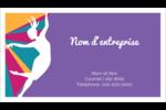 Danse en couleur Cartes d'affaires - gabarit prédéfini. <br/>Utilisez notre logiciel Avery Design & Print Online pour personnaliser facilement la conception.