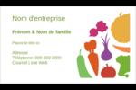Panier de légumes Cartes d'affaires - gabarit prédéfini. <br/>Utilisez notre logiciel Avery Design & Print Online pour personnaliser facilement la conception.