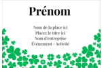 Pluie de trèfles de la Saint-Patrick Étiquettes à codage couleur - gabarit prédéfini. <br/>Utilisez notre logiciel Avery Design & Print Online pour personnaliser facilement la conception.