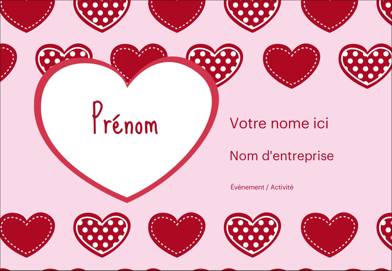 """1¼"""" Étiquettes à codage couleur - Cœur de Saint-Valentin"""