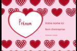 Cœur de Saint-Valentin Étiquettes à codage couleur - gabarit prédéfini. <br/>Utilisez notre logiciel Avery Design & Print Online pour personnaliser facilement la conception.