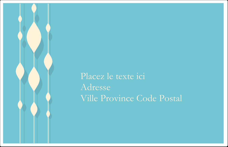 """1½"""" x 4"""" Étiquettes d'adresse - Rideau de perles bleues"""