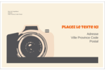 Appareil photo rétro Étiquettes d'expédition - gabarit prédéfini. <br/>Utilisez notre logiciel Avery Design & Print Online pour personnaliser facilement la conception.