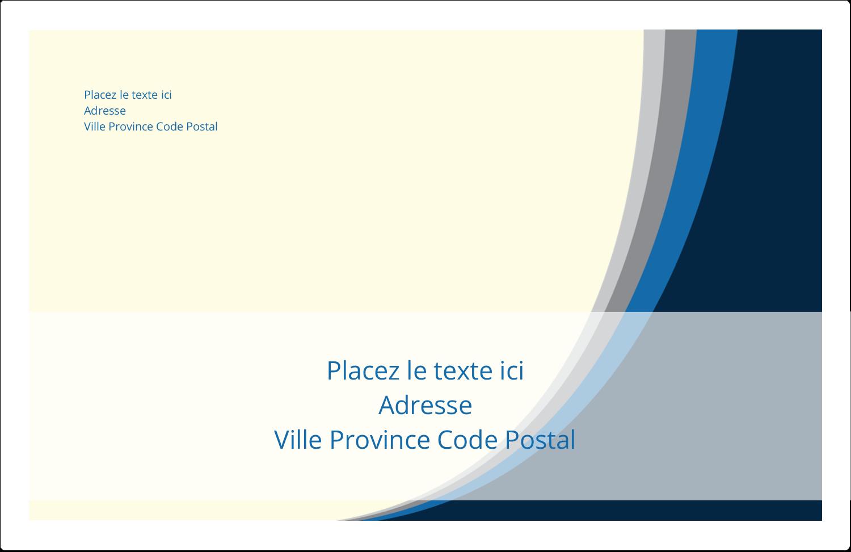 """1½"""" x 4"""" Étiquettes d'adresse - Vague bleue"""