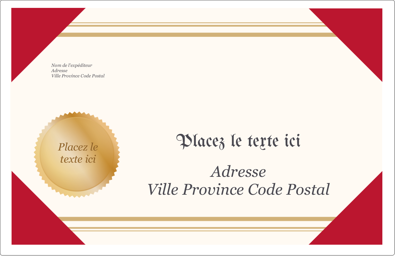 """1½"""" x 4"""" Étiquettes d'adresse - Diplôme d'études"""
