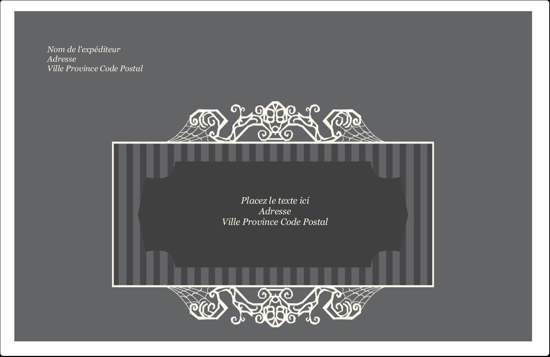 """8½"""" x 5½"""" Étiquettes d'expédition - Papier peint gothique"""