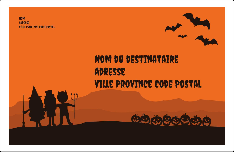 """1½"""" x 4"""" Étiquettes d'adresse - Enfants à l'Halloween"""