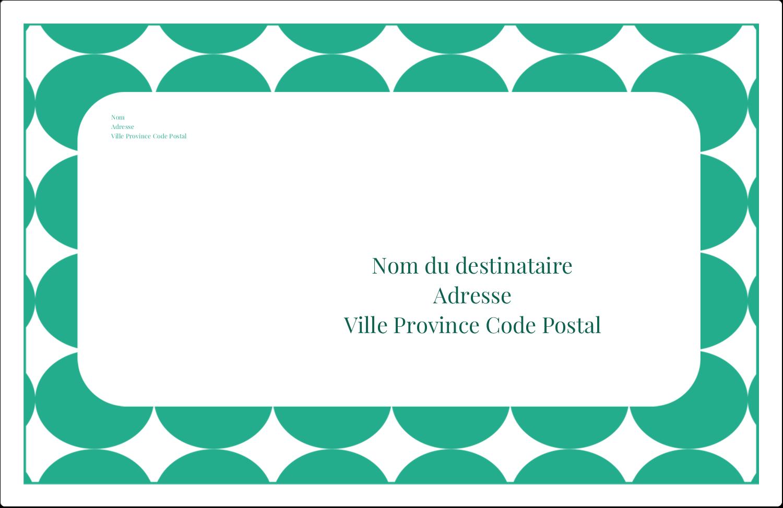 """1½"""" x 4"""" Étiquettes d'adresse - Cercles vert sarcelle"""