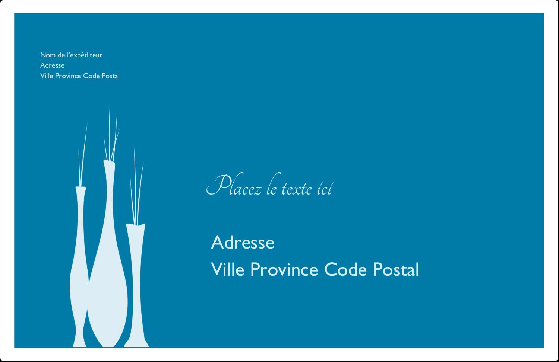 """1½"""" x 4"""" Étiquettes d'adresse - Vase design d'intérieur"""
