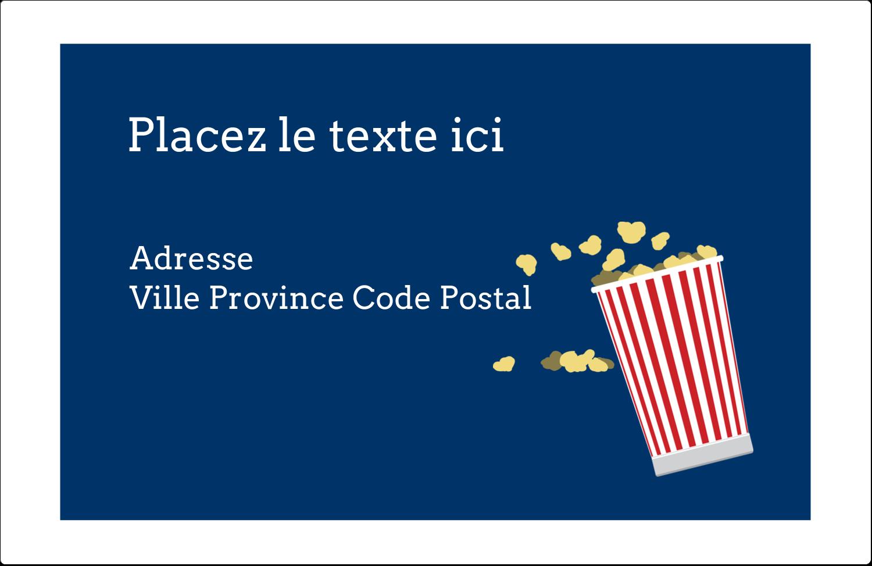 """1½"""" x 4"""" Étiquettes d'adresse - Popcorn et film"""