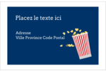 Popcorn et film Étiquettes d'adresse - gabarit prédéfini. <br/>Utilisez notre logiciel Avery Design & Print Online pour personnaliser facilement la conception.