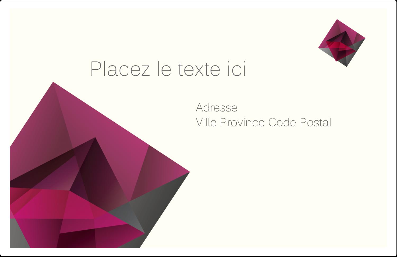"""1½"""" x 4"""" Étiquettes d'adresse - Pierres de rubis"""