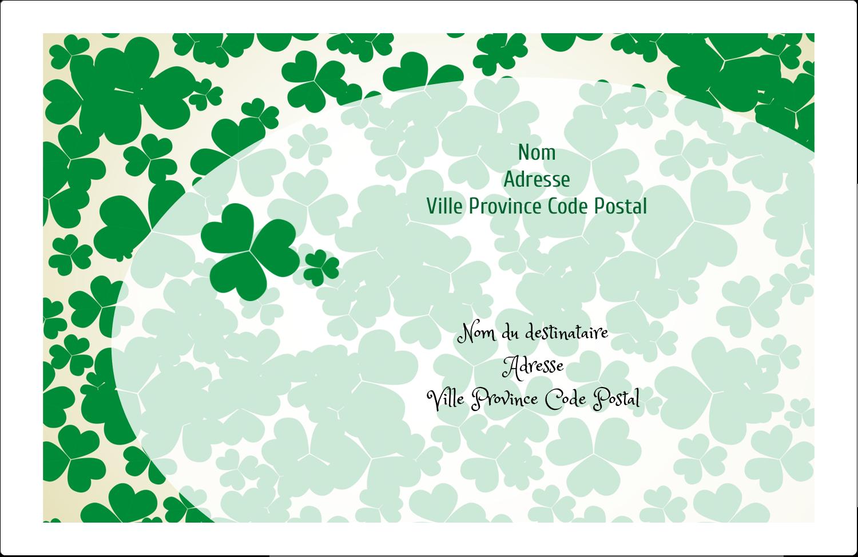 """1½"""" x 4"""" Étiquettes d'adresse - Arrière-plan de trèfles de la Saint-Patrick"""