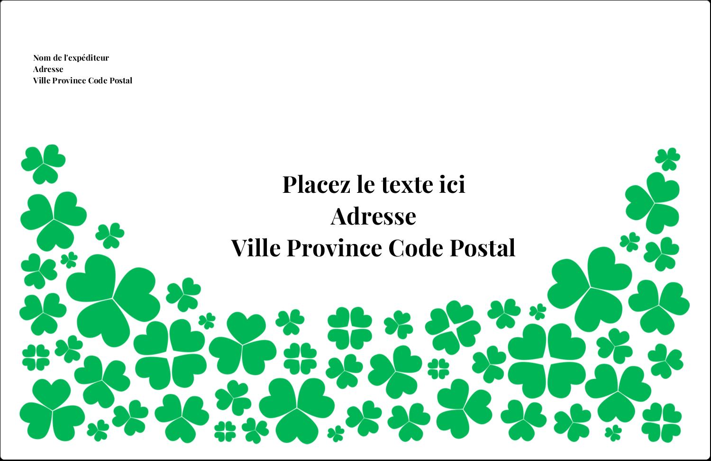 """1½"""" x 4"""" Étiquettes d'adresse - Pluie de trèfles de la Saint-Patrick"""